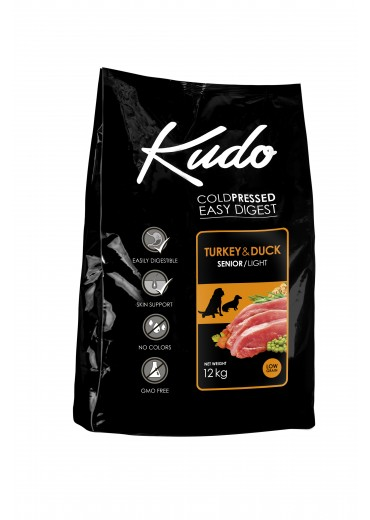 KUDO – Senior, light, turkey & duck, 12kg