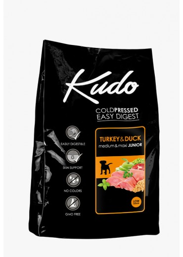KUDO – Junior medium/maxi, turkey & duck, 15kg