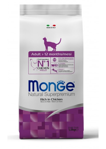 MONGE - CAT, Adult, chicken and rice, 1,5kg