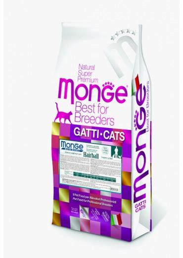 MONGE - CAT, Hairball, chicken and rice, 10kg